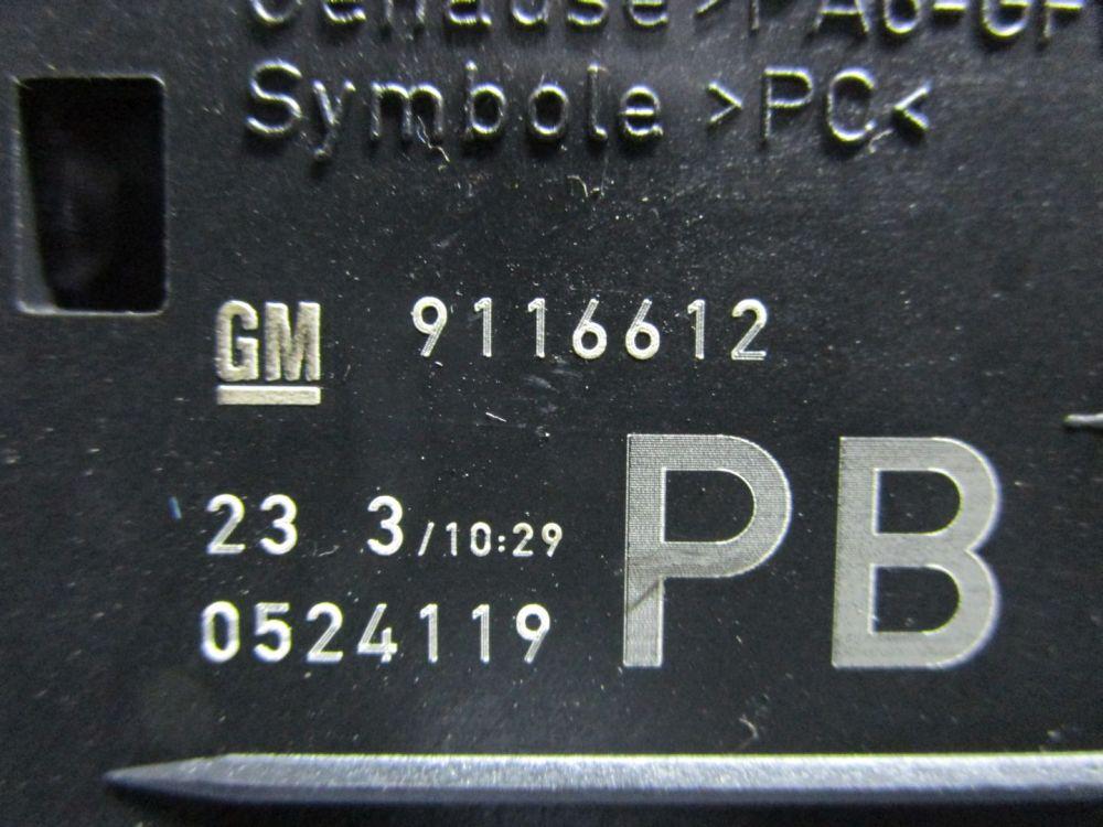 OPEL CORSA C (F08, F68) 1,2 Schalter Licht Lichtschalter 9116612 | eBay