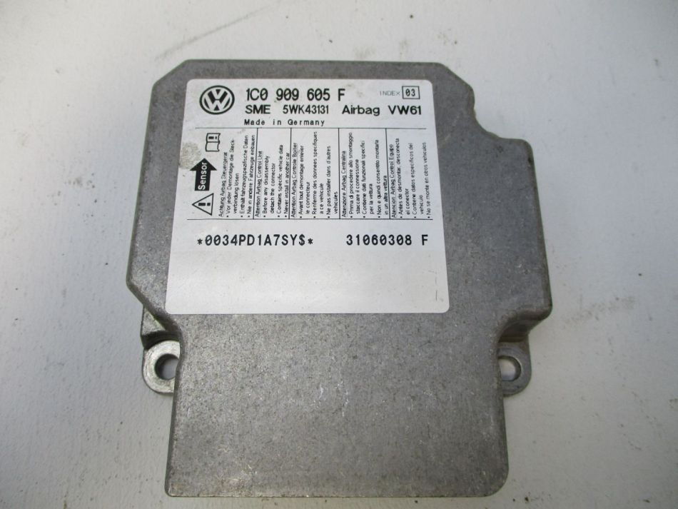 Airbagsteuergerät VW Sharan Seat Alhambra 1C0909605 Airbag Steuergerät